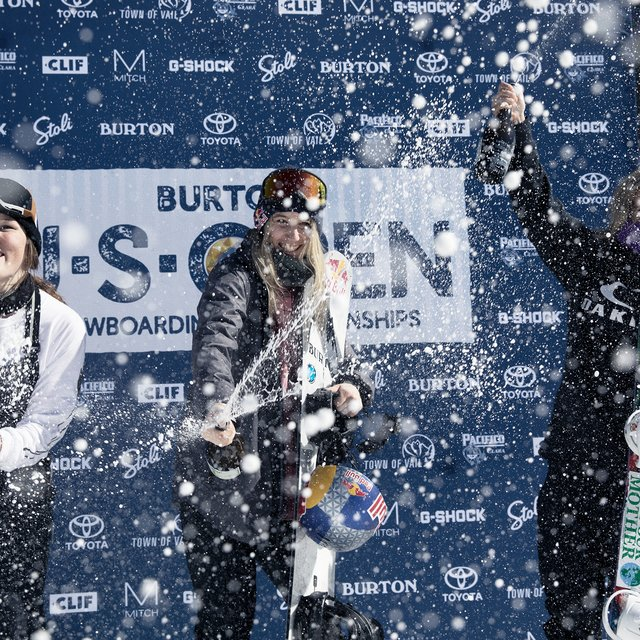Women's Slopestyle Finals Podium